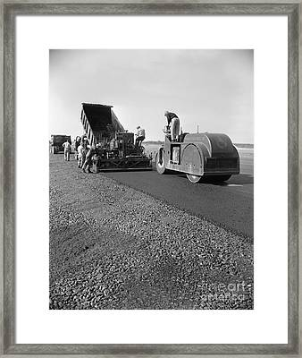 Highway Construction, C.1950-60s Framed Print by H. Armstrong Roberts/ClassicStock