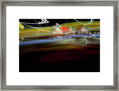 Highway Lights Framed Print