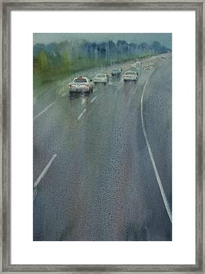 Highway On The Rain02 Framed Print by Helal Uddin