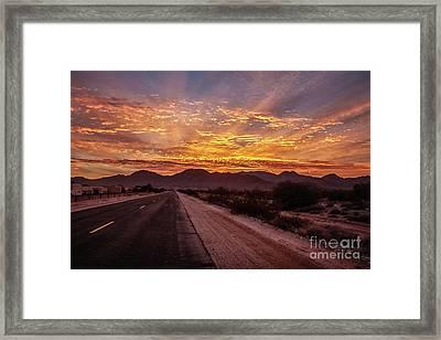 Highway View Framed Print by Robert Bales