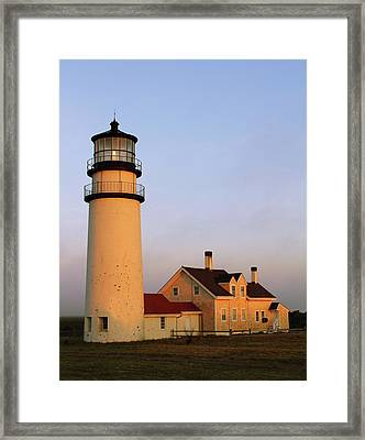 Framed Print featuring the photograph Higland Lighthouse Cape Cod by Roupen  Baker