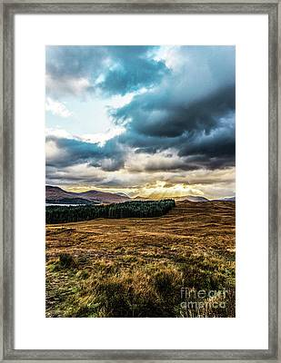 Framed Print featuring the photograph Higlands Wonders by Anthony Baatz