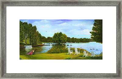 Framed Print featuring the painting Higley Flow by Judy Filarecki