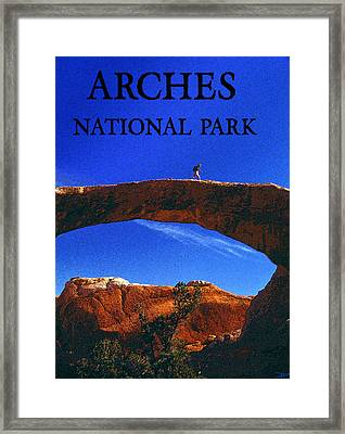 Hiking Arches Framed Print by David Lee Thompson