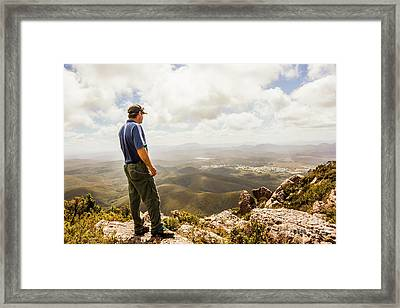 Hiking Australia Framed Print