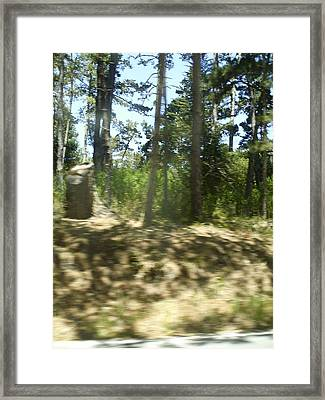 Hiking Blur Framed Print by Anne