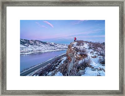hiking Colorado before sunrise Framed Print by Marek Uliasz