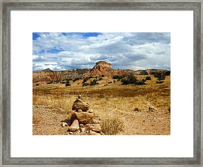 Framed Print featuring the photograph Hiking Ghost Ranch New Mexico by Kurt Van Wagner