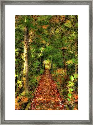 Framed Print featuring the digital art Hiking In Paradise - West Virginia Ap by Dan Carmichael