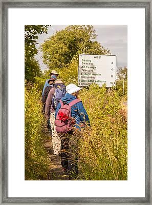 Hiking In The Highlands Framed Print