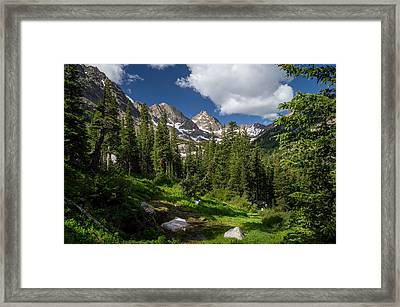 Hiking Into The Gore Range Mountains Framed Print by Michael J Bauer