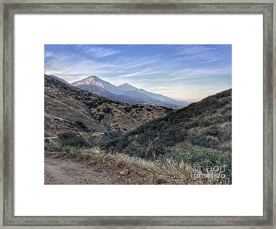 Hiking Johnson's Pasture Framed Print