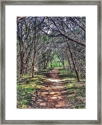 Hiking Meridian State Park  Framed Print