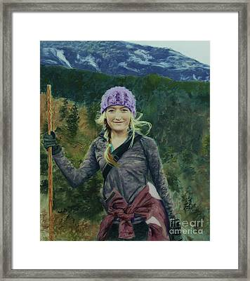 Hiking The White Mountains Framed Print