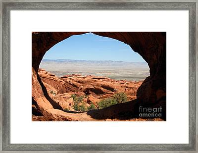 Hiking Through Arches Framed Print by David Lee Thompson