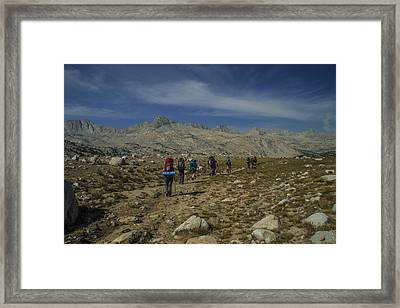 Hiking Through Humphrey Basin Framed Print