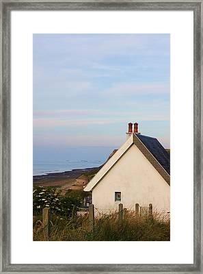 Hill Above Port Framed Print by Jennie ML Ossentjuk
