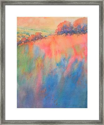 Hill Country Abstract No 1 Framed Print