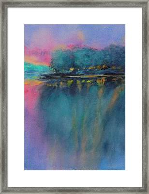 Hill Country Abstract No 5 Framed Print by Virgil Carter