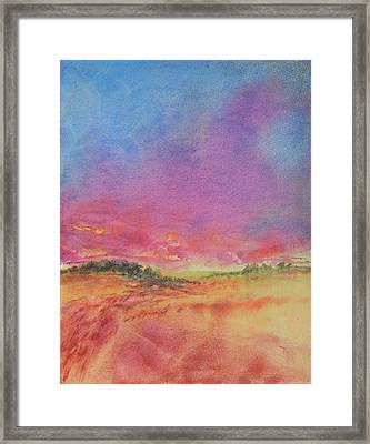 Hill Country Abstract No 8 Framed Print by Virgil Carter