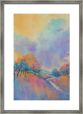 Hill Country Back Road No 1 Framed Print by Virgil Carter