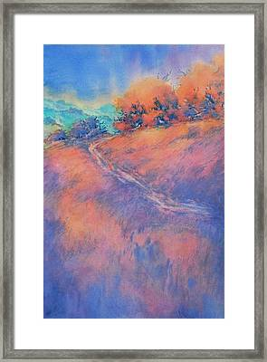 Hill Country Back Road No 2 Framed Print by Virgil Carter