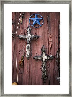 Hill Country Crosses Framed Print