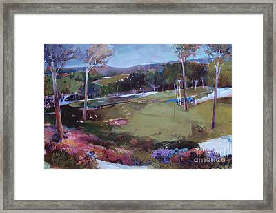 Framed Print featuring the painting Hill Country by Diane Ursin