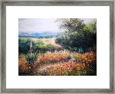Hill Country Gone Wild Framed Print