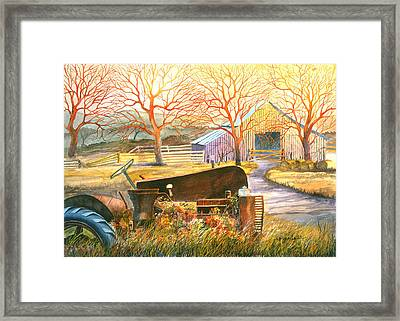 Hill Country Memories Framed Print