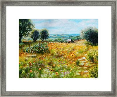 Hill Country Mile Framed Print