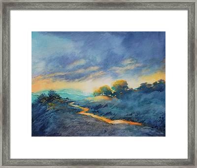 Hill Country Morning Breaks No 2 Framed Print by Virgil Carter