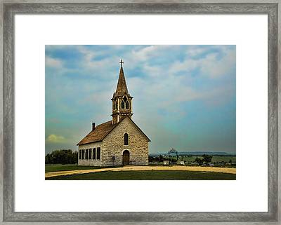 Hill Country Rock Church Framed Print by Stephen Stookey