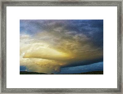 Hill Country Storm Framed Print