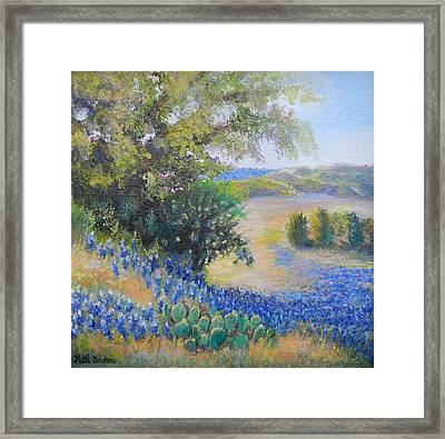 Hill Country View Framed Print