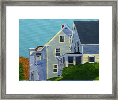 Hill Houses Framed Print by Laurie Breton