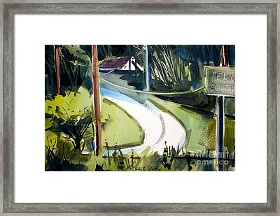 Framed Print featuring the painting Hill Top Drive Apartments Matted Framed Glassed by Charlie Spear