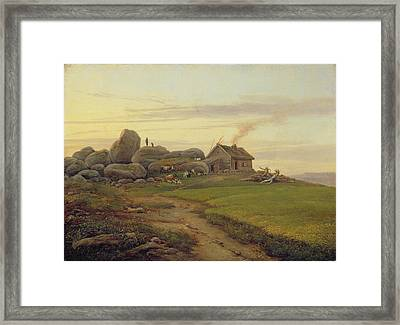 Hill Top Framed Print by Heinrich Stuhlmann