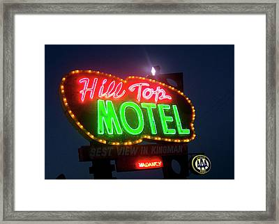 Framed Print featuring the photograph Hill Top Motel by Matthew Bamberg