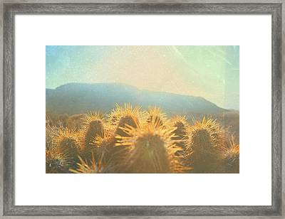 Framed Print featuring the photograph Hill Top Sunset  by Mark Ross