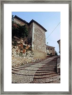Hill Town Cordonata Framed Print by Fabrizio Ruggeri