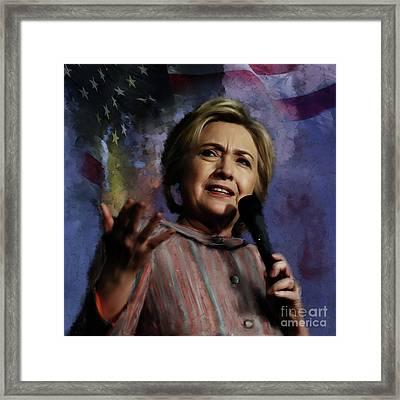 Hillary Clinton 01 Framed Print