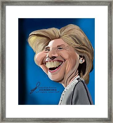 Hillary Clinton Caricature Framed Print