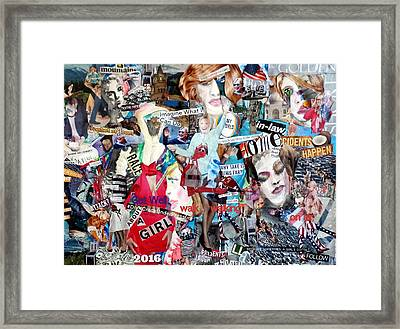 Hillary Clinton Get Well/campaign Poster Framed Print by Barb Greene Mann