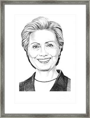 Hillary Clinton Framed Print by Murphy Elliott