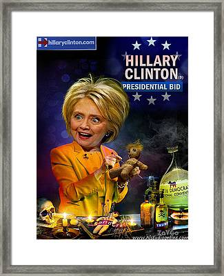 Hillary Clinton. President Program 2016 Framed Print by Andrey Zavgorodniy