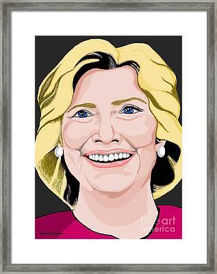 Hillary Clinton Framed Print by Richard Heyman