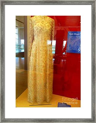Hillary Clinton State Dinner Gown Framed Print by Randall Weidner