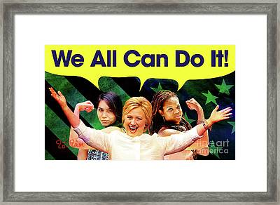 Hillary Clinton Framed Print by To-Tam Gerwe