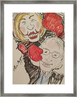Hillary Clinton Vs Bernie Sanders Framed Print